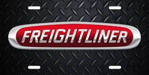 Freightliner emblem Silver on red oval